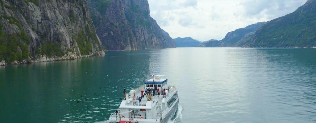 Cruzeiro no Pulpit Rock e no Lysefjord
