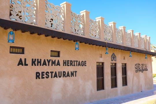 Этнические эмиратской кухни в доме Аль-Хайма наследия