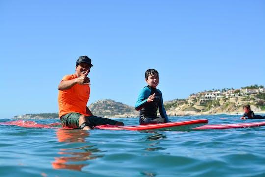 Clase de surf de 3 horas en Los Cabos en Costa Azul