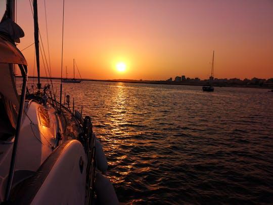 Vilamoura sunset tour on a sailing yacht