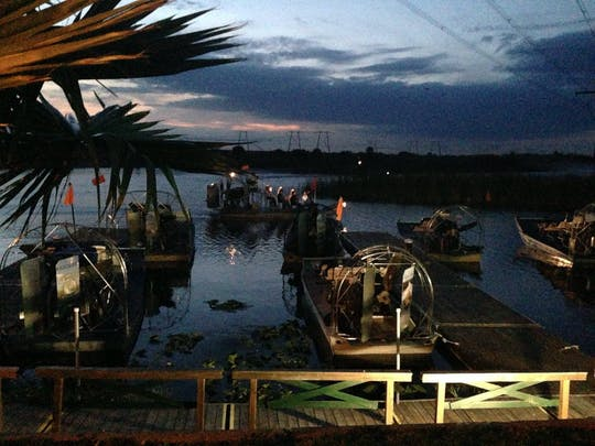 Gator Night 60-minute nighttime airboat tour at Sawgrass Recreation Park