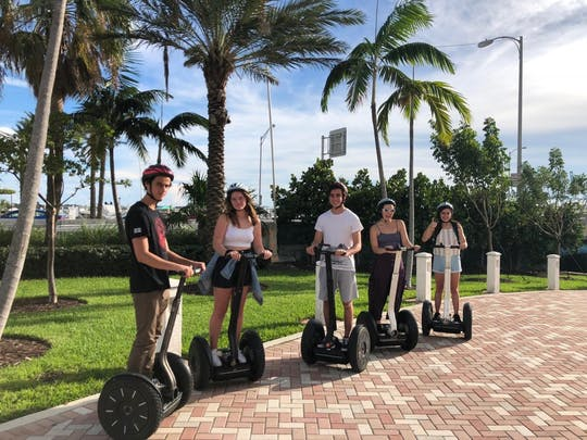 Biscayne Bay boat and self-balancing scooter tour