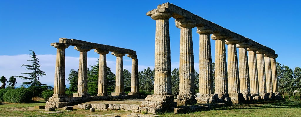 Visita guiada a la zona arqueológica de Metaponto.