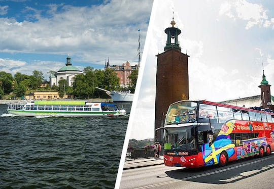 24h Hop On - Hop Off by bus and boat Stockholm