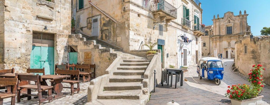 Tour panoramico di Matera in porter