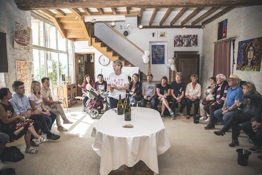 Wizyta podczas degustacji win Domaine Clotilde Davenne i Chablis