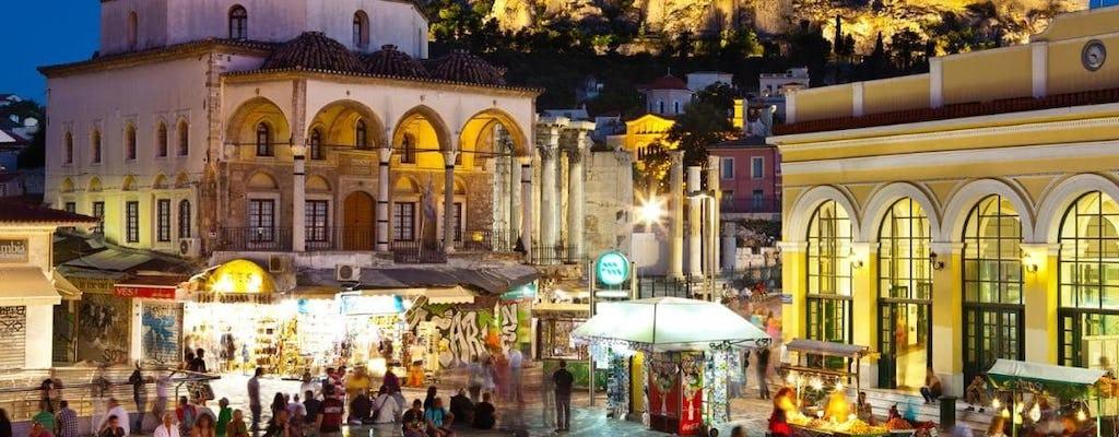 Tour a pie por Atenas de noche