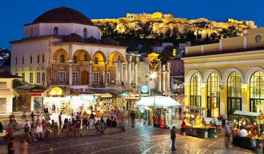 Athens at night walking tour