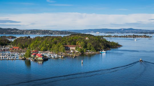 Private island hopping experience in the Oslo fjord