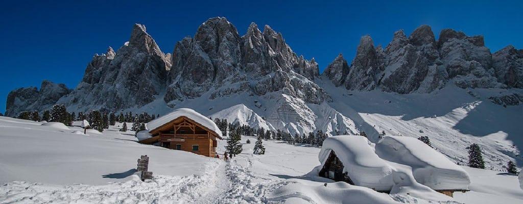 Experiência privada com raquetes de neve no Vale Funes