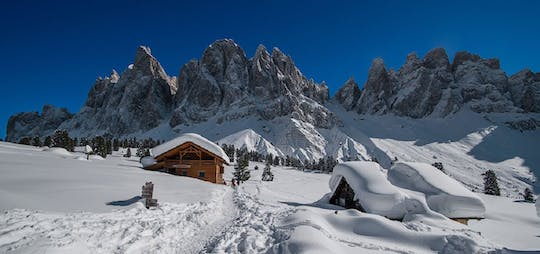 Snowshoeing private experience in Funes Valley