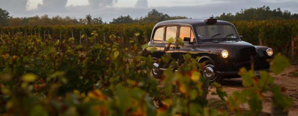 Weintour nach Saint Emilion in einem traditionellen Taxi