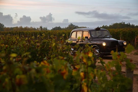 Wine tour to Saint Emilion in a traditional taxi-cab