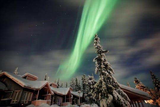 Caminata con raquetas de nieve Aurora desde Saariselkä