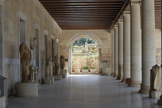 В наушниках экскурсию и без очереди билет Древней Агоры Афин