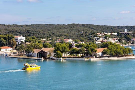 Mahon Harbour Yellow Catamarans Cruise with Underwater Views