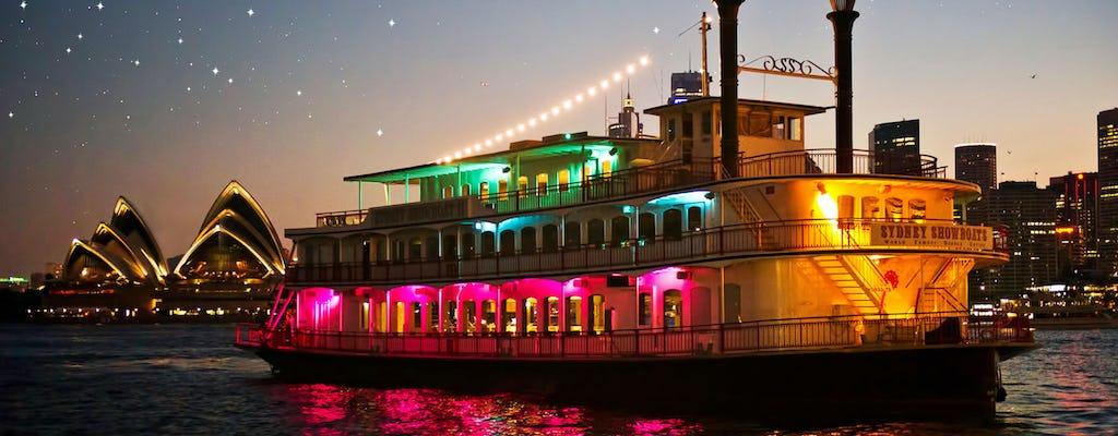 Passeio com jantar no barco panorâmico Panache com menu de 3 pratos e show