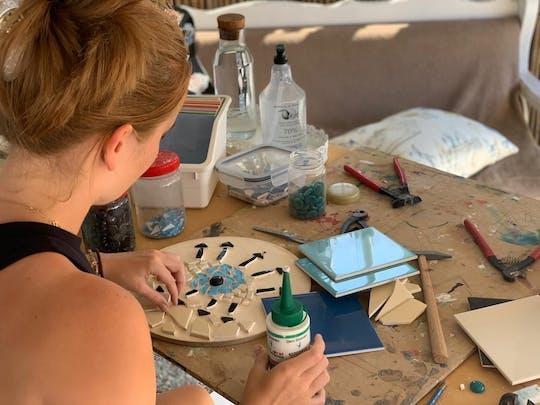 Kreative Mosaikwerkstatt in Karpathos
