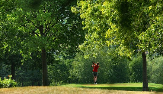 Full-day unlimited green fee at Golf Club Bergamo 'L'Albenza' by private Minivan from Milan