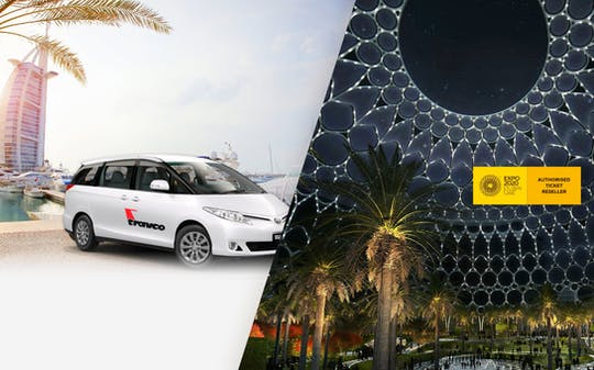 Expo 2020 Dubai ticket with audio guide and sharing transfer