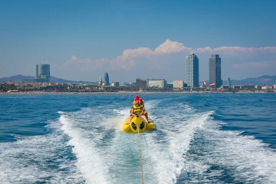 Banana boat challenge in Barcelona