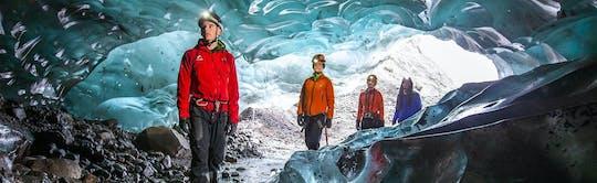 Caverna de gelo Skaftafell e caminhada pela geleira