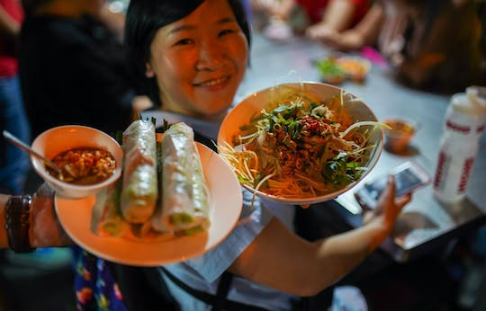 Ho Chi Minh City guided street food tour by night