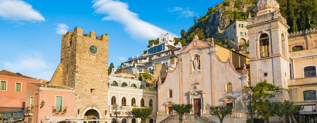 Full-day Etna and Taormina tour from Catania