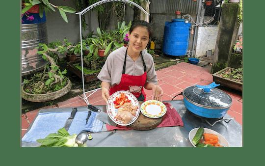Aula online de culinária tradicional vietnamita