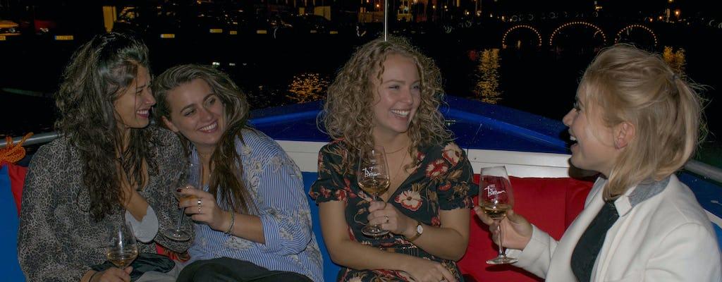 Wieczorny rejs po kanałach Amsterdamu z otwartym barem