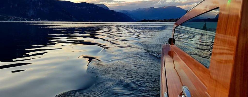 Venetian-style boat cruise to villas on Lake Como