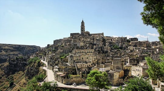 Guided tour of Matera with entrance to a grotto