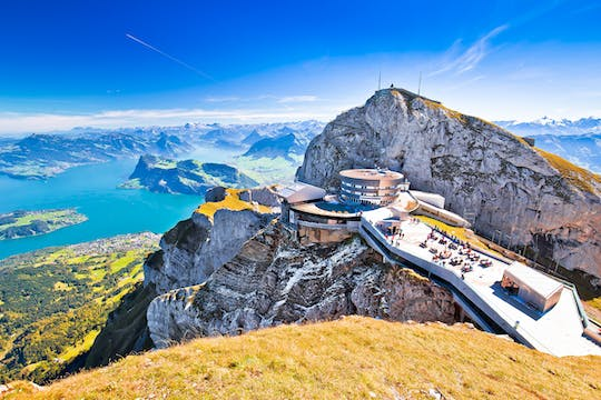 Golden Round Trip to the Pilatus from Zurich