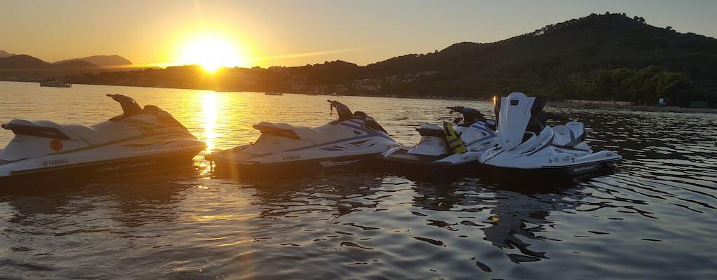 Escursione in moto d'acqua a Maiorca al tramonto