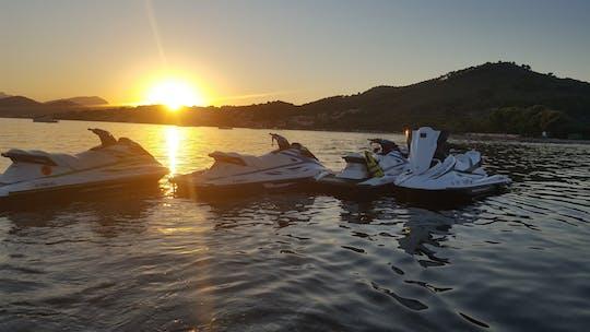 Wycieczka na skuterze wodnym na Majorce o zachodzie słońca