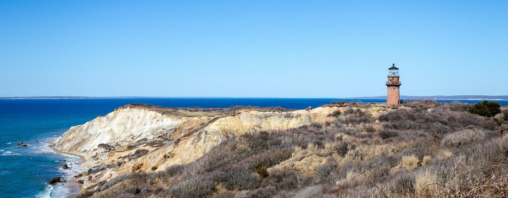 Martha's Vineyard cliffs and shopping private tour