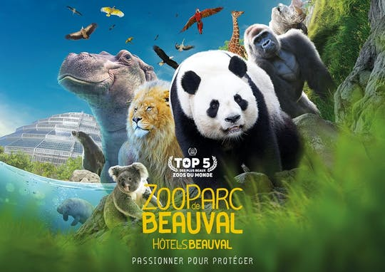 Entrance ticket for ZooParc de Beauval
