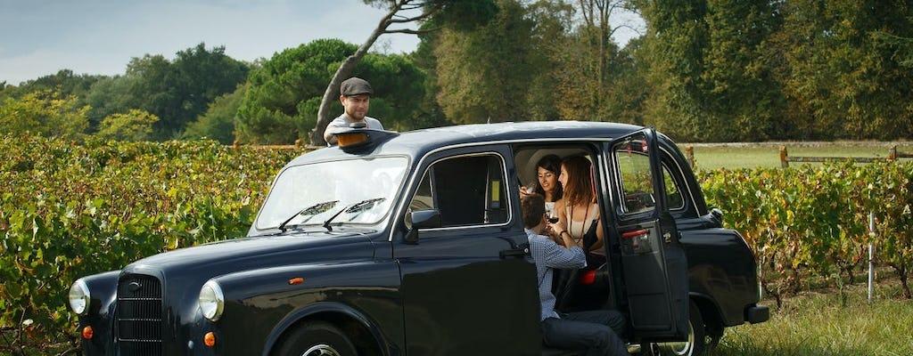 Wycieczka po winnicach i wioska Saint-Emilion na pokładzie angielskiej taksówki