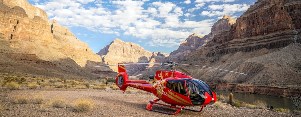 Luxury Grand Canyon celebration helicopter tour + Champagne picnic and sunset upgrade
