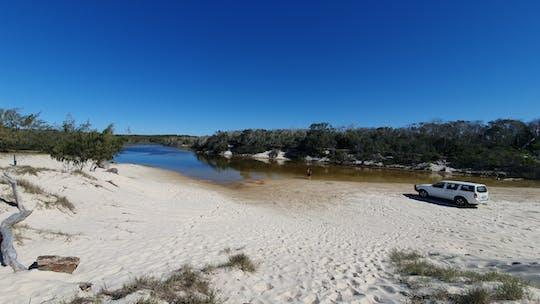 Bribie Island 4WD, passeio de caiaque, praia e bunker