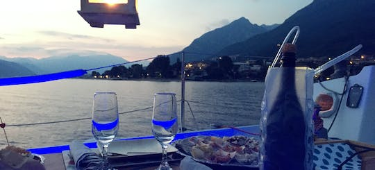 Private romantic sunset sailboat experience on Lake Como with dinner