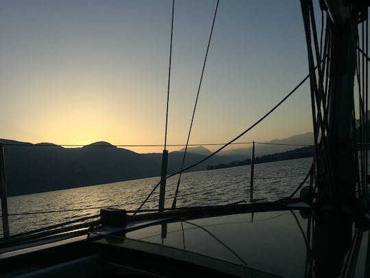 Sunset sailing experience with dinner on Lake Como