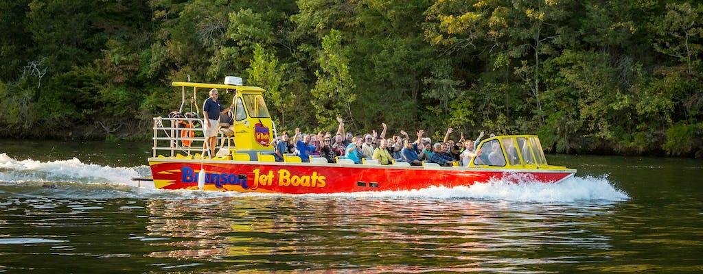Tour d'aventure en jetboat sur le lac Taneycomo à Branson
