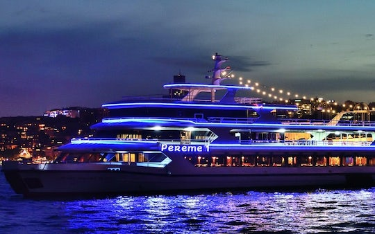 Bosphorus dinner cruise and live show