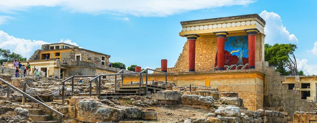 Wycieczka do Pałacu Knossos i Muzeum Archeologicznego z transportem z Heraklionu