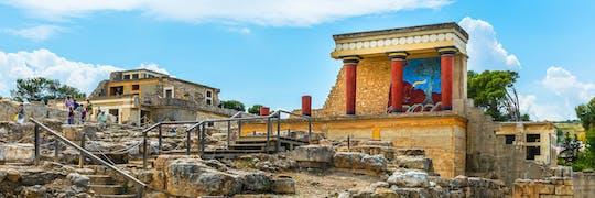 Visite du palais de Knossos et du musée archéologique avec transport depuis Héraklion