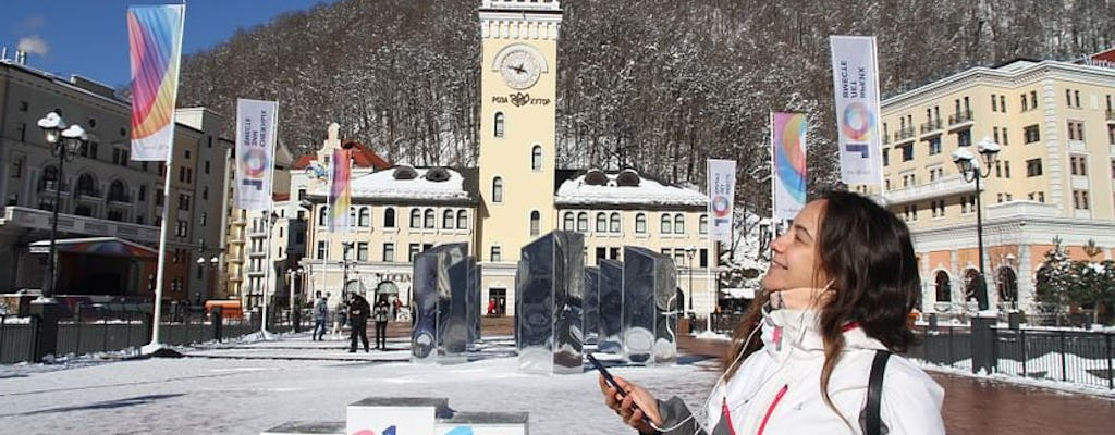 Krasnaya Polyana: self-guided audio tour with cable car tickets
