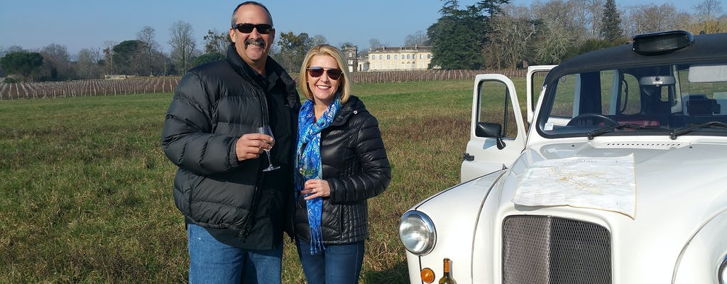 Organic wine and vineyard tour from Bordeaux
