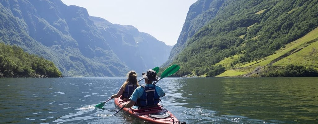 Guided sea kayak experience in the Nærøyfjord