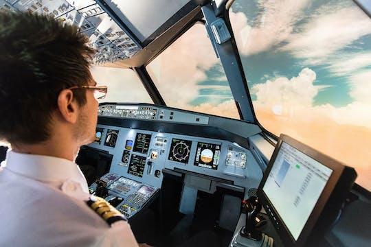 Esperienza di simulatore di volo in aereo a Tolosa